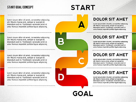 Set Start Reach Goal Toolbox, Slide 4, 02457, Stage Diagrams — PoweredTemplate.com