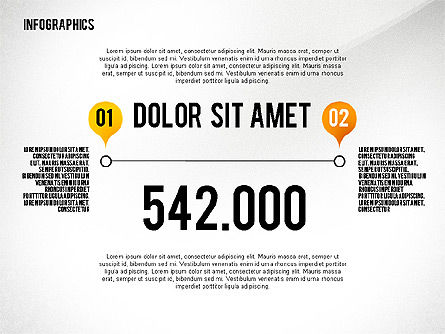 Infographics with Globe, Slide 3, 02458, Infographics — PoweredTemplate.com