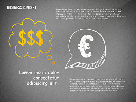 Doodle Financial Shapes, Slide 15, 02460, Shapes — PoweredTemplate.com