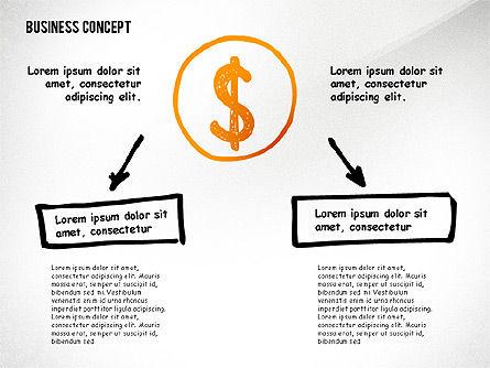 Doodle Financial Shapes, Slide 3, 02460, Shapes — PoweredTemplate.com
