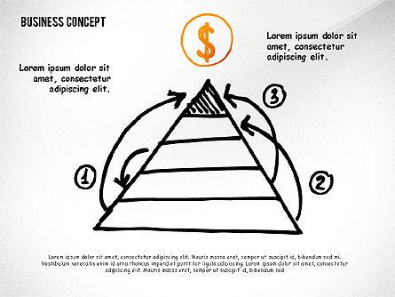 Doodle Financial Shapes, Slide 5, 02460, Shapes — PoweredTemplate.com