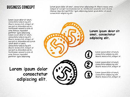 Doodle Financial Shapes, Slide 6, 02460, Shapes — PoweredTemplate.com
