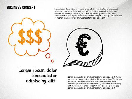 Doodle Financial Shapes, Slide 7, 02460, Shapes — PoweredTemplate.com