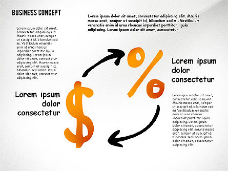 Doodle Financial Shapes, Slide 8, 02460, Shapes — PoweredTemplate.com