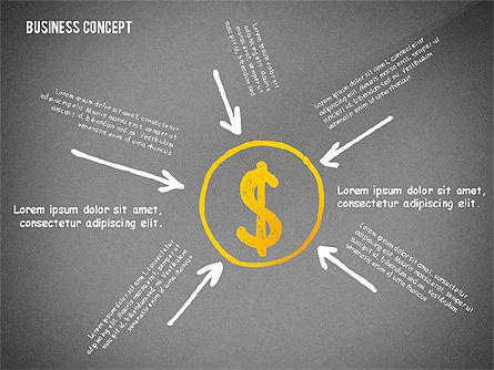 Doodle Financial Shapes, Slide 9, 02460, Shapes — PoweredTemplate.com