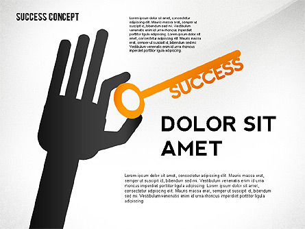 Success Concept, 02463, Presentation Templates — PoweredTemplate.com