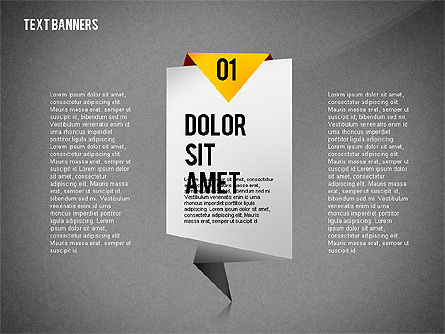 Creative Text Banners Toolbox, Slide 12, 02465, Text Boxes — PoweredTemplate.com