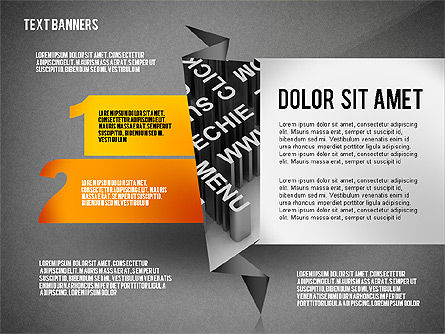Creative Text Banners Toolbox, Slide 14, 02465, Text Boxes — PoweredTemplate.com