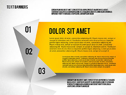 Creative Text Banners Toolbox, Slide 2, 02465, Text Boxes — PoweredTemplate.com