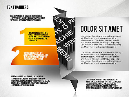 Creative Text Banners Toolbox, Slide 6, 02465, Text Boxes — PoweredTemplate.com
