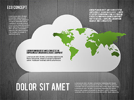 Ecology Concept Presentation Template, Slide 12, 02466, Presentation Templates — PoweredTemplate.com
