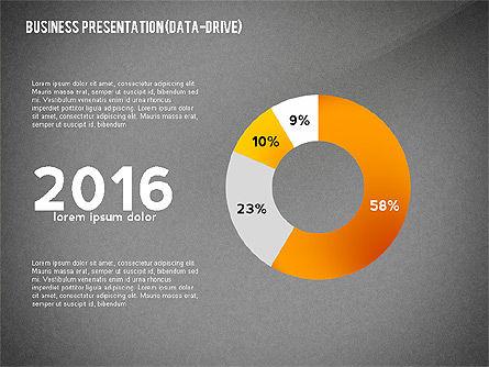Business Presentation with Data Driven Charts, Slide 11, 02472, Presentation Templates — PoweredTemplate.com