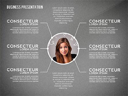 Business Presentation with Data Driven Charts, Slide 12, 02472, Presentation Templates — PoweredTemplate.com