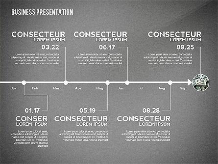 Business Presentation with Data Driven Charts, Slide 13, 02472, Presentation Templates — PoweredTemplate.com
