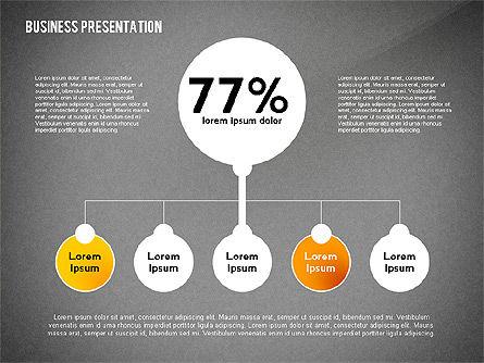 Business Presentation with Data Driven Charts, Slide 14, 02472, Presentation Templates — PoweredTemplate.com
