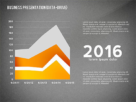 Business Presentation with Data Driven Charts, Slide 15, 02472, Presentation Templates — PoweredTemplate.com