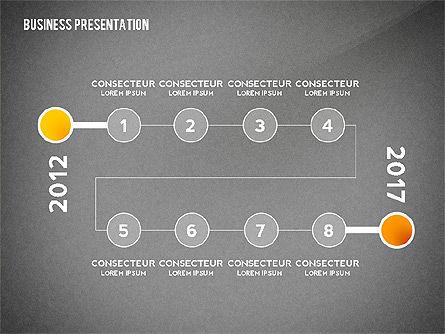 Business Presentation with Data Driven Charts, Slide 16, 02472, Presentation Templates — PoweredTemplate.com