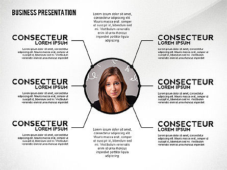 Business Presentation with Data Driven Charts, Slide 4, 02472, Presentation Templates — PoweredTemplate.com