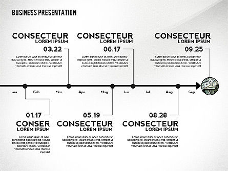 Business Presentation with Data Driven Charts, Slide 5, 02472, Presentation Templates — PoweredTemplate.com