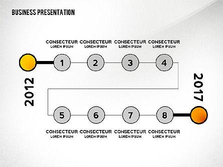 Business Presentation with Data Driven Charts, Slide 8, 02472, Presentation Templates — PoweredTemplate.com