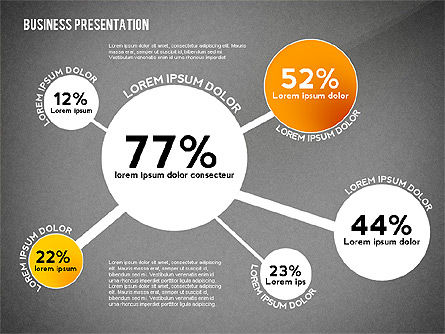 Business Presentation with Data Driven Charts, Slide 9, 02472, Presentation Templates — PoweredTemplate.com