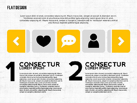 Flat Designed Monochrome Presentation Template, Slide 2, 02473, Presentation Templates — PoweredTemplate.com