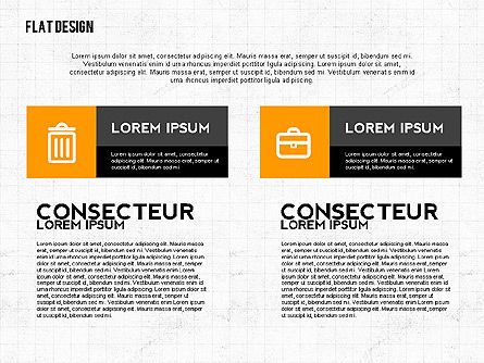 Flat Designed Monochrome Presentation Template, Slide 3, 02473, Presentation Templates — PoweredTemplate.com