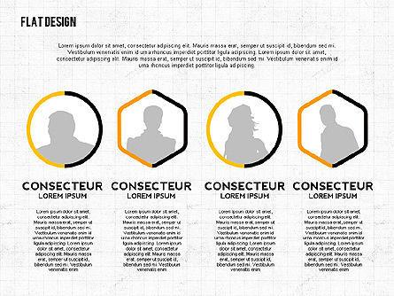Flat Designed Monochrome Presentation Template, Slide 4, 02473, Presentation Templates — PoweredTemplate.com