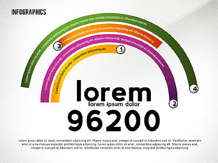 Colorful Infographic Banners, 02474, Infographics — PoweredTemplate.com