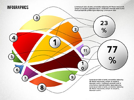 Colorful Infographic Banners, Slide 2, 02474, Infographics — PoweredTemplate.com