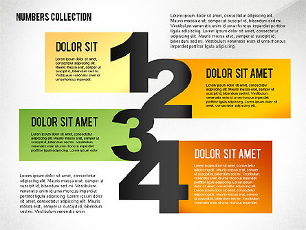 Staged Text Boxes with Numbers Toolbox, 02477, Shapes — PoweredTemplate.com