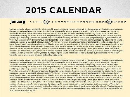 Timelines & Calendars: 2015 Calendário do PowerPoint #02478