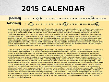 2015 PowerPoint Calendar, Slide 2, 02478, Timelines & Calendars — PoweredTemplate.com