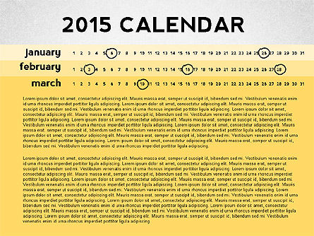 2015 PowerPoint Calendar, Slide 3, 02478, Timelines & Calendars — PoweredTemplate.com