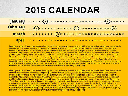 2015 PowerPoint Calendar, Slide 4, 02478, Timelines & Calendars — PoweredTemplate.com