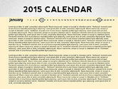Timelines & Calendars: 2015 PowerPoint Calendar #02478