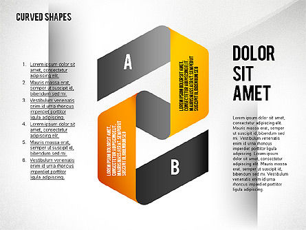 Folded and Curved Ribbons, Slide 3, 02481, Stage Diagrams — PoweredTemplate.com