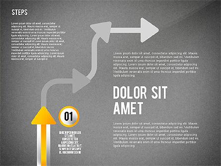 Process with Nodes, Slide 11, 02483, Process Diagrams — PoweredTemplate.com