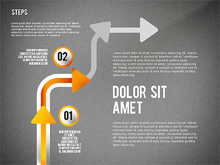 Process with Nodes, Slide 12, 02483, Process Diagrams — PoweredTemplate.com