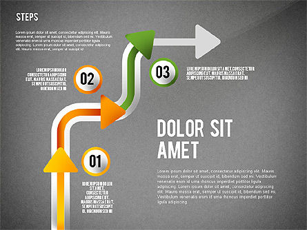 Process with Nodes, Slide 13, 02483, Process Diagrams — PoweredTemplate.com