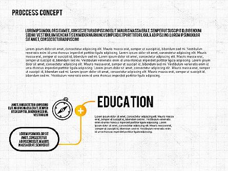 Process Diagrams: Passo dopo passo presentazione processo concetto #02487