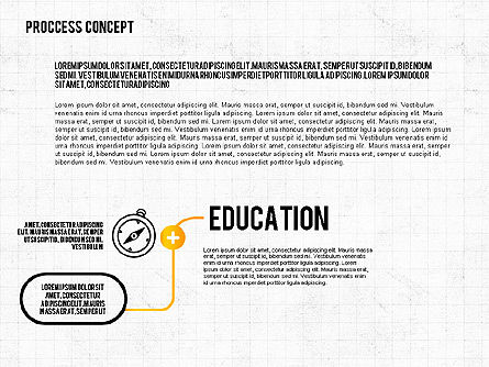 Step by Step Process Presentation Concept, 02487, Process Diagrams — PoweredTemplate.com