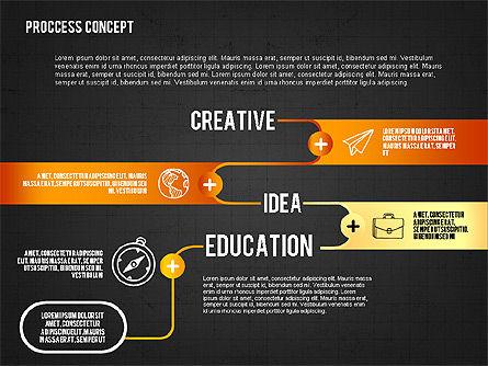 Step by Step Process Presentation Concept, Slide 11, 02487, Process Diagrams — PoweredTemplate.com