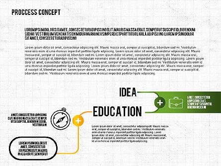 Step by Step Process Presentation Concept, Slide 2, 02487, Process Diagrams — PoweredTemplate.com
