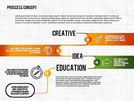 Step by Step Process Presentation Concept, Slide 3, 02487, Process Diagrams — PoweredTemplate.com