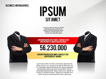 Business Report with Infographics, Slide 4, 02490, Presentation Templates — PoweredTemplate.com