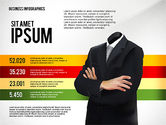 Presentation Templates: Business Report with Infographics #02490