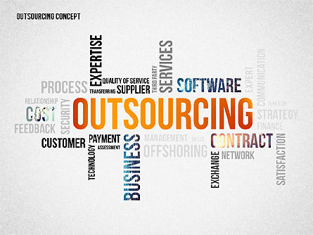 Presentation Templates: Outsourcing World Cloud #02493