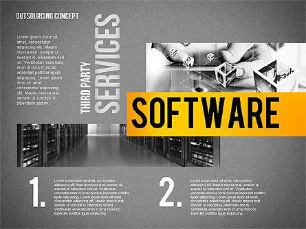 Outsourcing World Cloud, Slide 10, 02493, Presentation Templates — PoweredTemplate.com