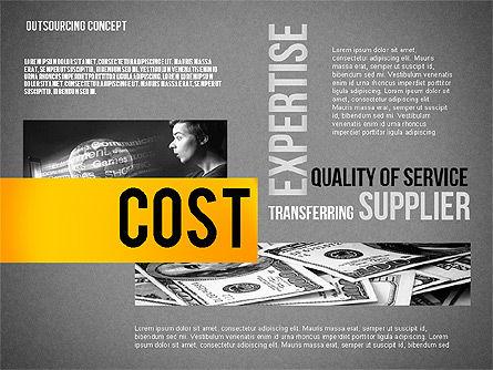 Outsourcing World Cloud, Slide 11, 02493, Presentation Templates — PoweredTemplate.com